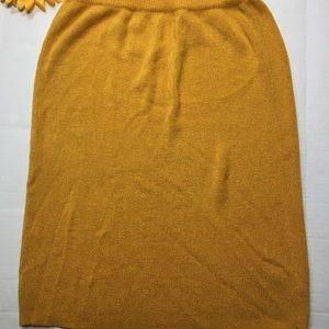 ann wi Skirts - Vintage Yellow Skirt